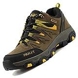 Unitysow Zapatillas de Trekking para Hombres Zapatillas de Senderismo Botas de Montaña Antideslizantes AL Aire Libre Zapatillas de Camping Zapatillas de Deporte EU35-47,Verde Oscuro-2,EU43