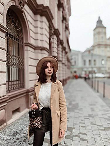 Malen nach Zahlen Malerei DIY digitales Kit Leinwand Kunstwerk Gemälde Geschenke Dekorationen (40X50 cm) rahmenlos--Schönes Mädchen in einem beigen Mantel und in einem Hut die auf der Straße gehen