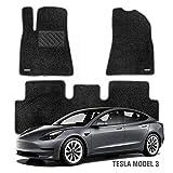 WENNEBIRD Superior Carpet Floor Mats for Tesla Model 3, Custom Fit Car Floor Liners - Black