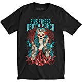 Five Finger Death Punch Men's Tee: Lady Muerta (x-large)
