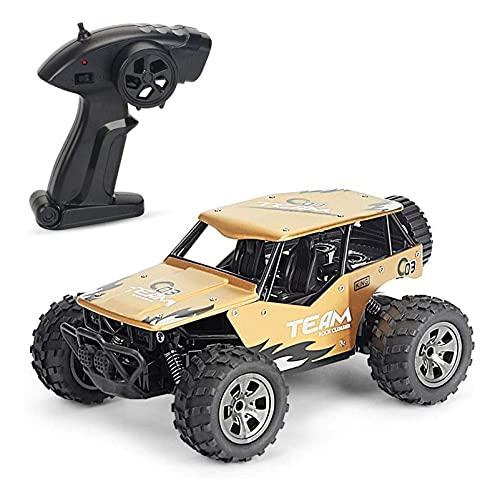 PWV 1/18 Scale Remote Control Modelo de automóvil Modelo de Juguete 2.4G Aleación Off-Road RC Vehículo Todo Terreno Escalada RC Coche Bigfoot Monster RC Camión para niños y Adultos. (Color : A)