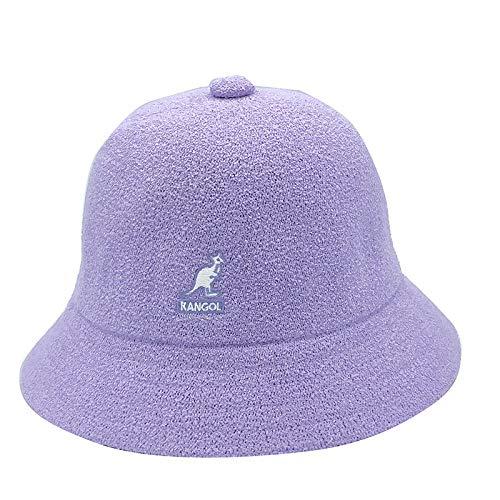 Sombrero de Pescador de Tela de Felpa de Alta Gama Parasol Protector Solar Domo Sombrero de Copa Plano-Cúpula púrpura_L (58-60 cm)
