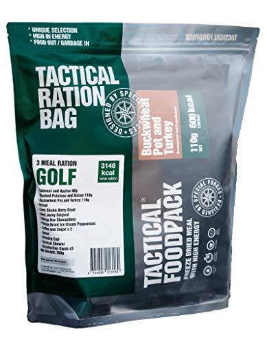 Tactical Foodpack 3 comidas Ration Golf, 706 g.