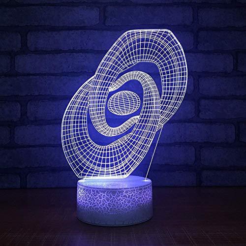 LBMTFFFFFF Lámpara Luz de Noche Escritorio 3D Luz de Noche Pequeña 7 Cambio de Color Lámpara 3D Luces de Habitación Accesorios de Iluminación 3D