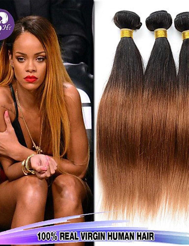 JFF  Bestnote 3pcs   lot 12-26inch peruanische reine Haar gerade ombre reine Haarverlngerungen Menschenhaarwelle Bundles