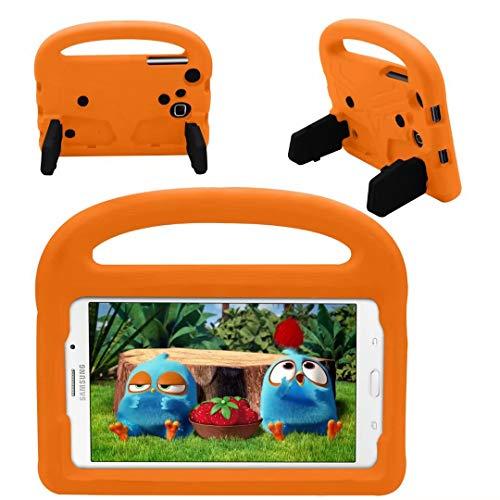 QYiD Funda para Galaxy Tab A 7.0' SM-T280/T285, Funda Protectora a Prueba de Golpes con Mango Ligero, Carcasa para niño para Galaxy Tab A 7.0 Pulgadas Tablet, Naranja