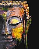Xofjje Pintar por Numeros para_Mapa de fe de Buda_Adultos Niños Pintura por Números con Pinceles y Pinturas Decoraciones_DIY Conjunto Completo de Pinturas para el Hogar_20x30cm_Sin Marco