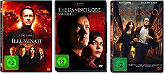 3 DVDs - Dan Brown Set: Illuminati + The Da Vinci Code - Sakrileg + Inferno im Set - Deutsche Originalware [3 DVDs]