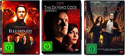 3 DVDs - Dan Brown Set: Illuminati + The Da Vinci Code - Sakrileg + Inferno im Set - Deutsche Originalware [3 DVDs]