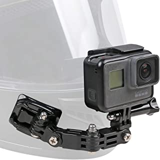 Motorcycle Helmet Chin Mount Kit for GoPro Hero (2018)/6/5 Black,4 Session,3+ Action Camera and More
