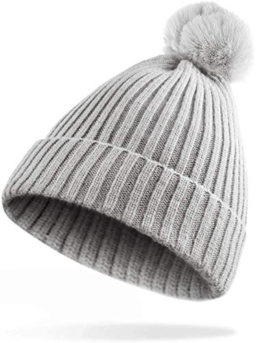 Gorra de Béisbol de Punto,COTEY Punto Sombrero de Esquí para el Invierno...