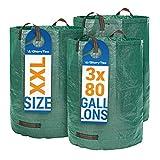 Sac de jardin 3 x 300 litres - 3 sacs de jardin Premium XXL - Sacs de déchets de...