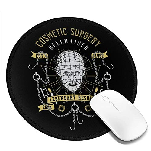 Hellraiser Cosmetic Surgery Customized Designs Non-Slip Rubber Base Gaming Mouse Pads for Mac,7.9x7.9 in, Pc, Computers. Ideal for Working Or Game