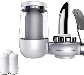 Water Flter Tap, Faucet Water Filter with Activated Carbon Water Faucet Filtration System Removes Lead & Chlorine(3 Filter...