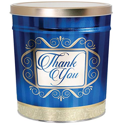 Best Bargain C.R. Frank Popcorn - Gourmet Popcorn Tin, 6.5 Gallon, Golden Thank You (2 Way, Butter a...