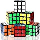 Vdealen Cube Set, 3x3x3 Cube Magic Cube Juego de Cubos de Rompecabezas Profesional, Gran Regalo para Niños, Paquete de 6 (6 Pegatinas Negras)
