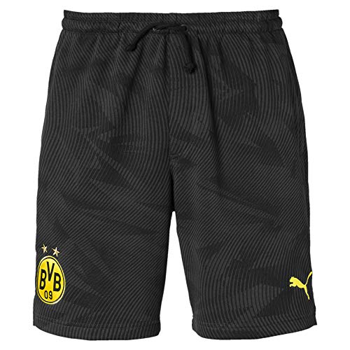 PUMA Herren BVB Casuals Shorts Black/Phantom Black, L