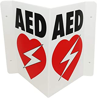 CPR Savers Foldable Panel AED Wall Sign for Business, School, Restaurant, Office or Any Public Place
