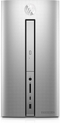 HP Pavilion 570-p578ng Desktop PC (Intel Core i7-7700, 128GB SSD, 1TB HDD, NVIDIA GeForce GTX 1050, 8GB RAM, FreeDos 2.0) silber