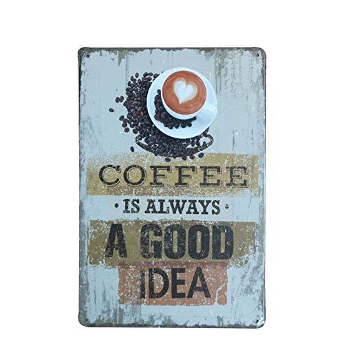 WallAdorn Coffe Is Always A Good Idea Cartel de Chapa decoración de Pared...