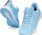 WHITIN Women Running Shoes Tennis Ladies Mujer Size 8.5 Female Walking Training Tennis Joggers Lightweight Workout Athletic Fitness Gym Sneakers Arch Support Zapatos Sport Exercise Active Blue 40
