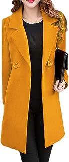 Howely Women Slim Autumn Plus Size Turn Down Collar Closure Coat Jacket