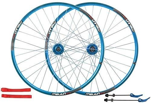 Ruedas De Bicicleta,llantas bicicleta Bicicletas de ruedas de 26 pulgadas, de pared doble de aleación de aluminio ruedas de bicicleta de montaña Disco de freno de bicicletas de ruedas de liberación rá