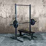Squat Rack with Pullup Bar / 4' x 4' Footprint - 450lb Weight Capacity/Weightlifting Equipment for...