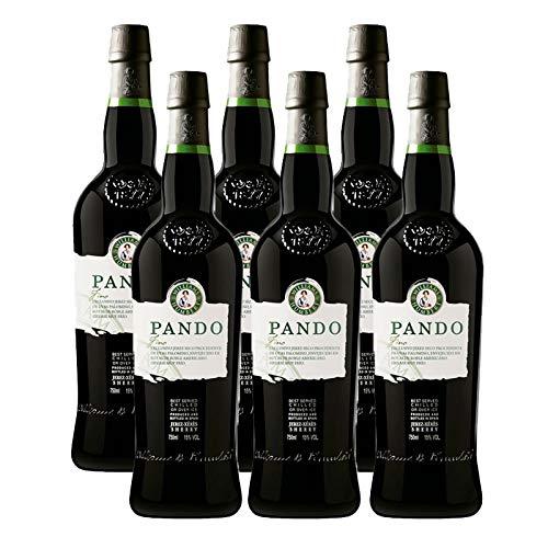 Vino Fino Pando de 75 cl - D.O. Jerez-Sherry - Bodegas Williams & Humbert (Pack de 6 botellas)