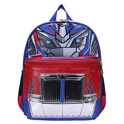Transformers Mochila para niños Mochila básica Trend Nueva Mochila Deportiva y de Ocio (Color : Blue, Size : 30 X 14 X 38cm)
