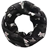 Lina & Lily Little Terrier Scottish Scottie Westie Dog Infinity Scarf, Gift for Dog Lover (Large Size)