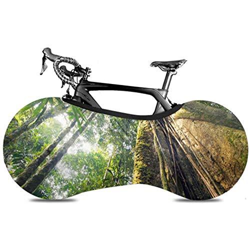 Ogden Moll Amazon Primeval Jungle Multi Bike Cover Cubierta De Polvo De Rueda De Bicicleta Cubierta De Rueda De Bicicleta De Carretera Mantiene Los Pisos Y Las Paredes Libres De Suciedad