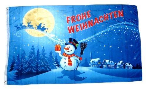 Fahne/Flagge Frohe Weihnachten Mond 90 x 150 cm