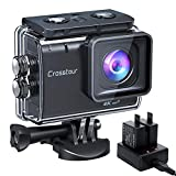 Crosstour Action Cam CT9500, 4K/50FPS 20MP WiFi EIS Stabilizzata Videocamera, Fotocamere S...
