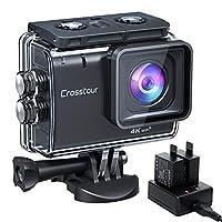 [Ultra 4K/50FPS und 20MP] 4K 20MP hochauflösende Action cam - Echte 4K-Videos mit 50 Bildern pro Sekunde und 20 MP-Fotos, aufgenommen mit einem Objektiv aus 7 Schichten optischen Glases.Es ist auch mit Weißabgleich, ISO, Belichtungskorrektur usw. aus...