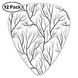 Invierno Árbol de invierno sin hojas Tema de la naturaleza Patrón de ramas delicadas Imagen de estilo japonés Blanco Negro (paquete de 12)