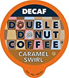 Caramel Swirl Decaf Coffee Pods, Medium Roast Decaffeinated Coffee Pods with Amazing Caramel Flavor for Keurig K Cups Machines, 24 Flavored Decaf Coffee Pods