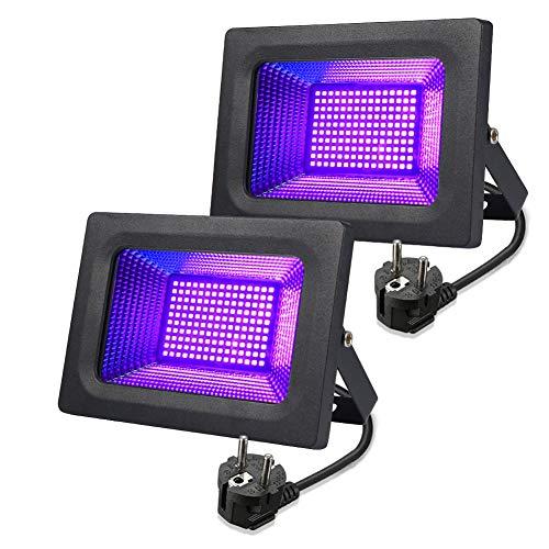 LED schwarzlicht lunsy 30W UV LED Flutlicht Strahler Lichteffekt Partylicht Bühnenbeleuchtung Wasserfest Geeignet für halloween Aquarium Konzert Party usw