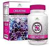 Créatine - Creatine Monohydrate avec Magnésium, Zinc, Vitamin B6-90...