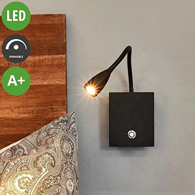 Lampenwelt LED Wandleuchte, Wandlampe Innen 'Torin' dimmbar (Modern) in Schwarz aus Aluminium u.a. für Wohnzimmer & Esszimmer (1 flammig, A+, inkl. Leuchtmittel) - Wandstrahler, Wandbeleuchtung