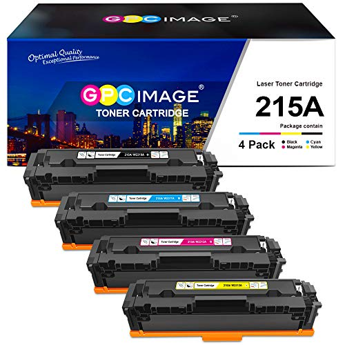 GPC Image Compatible Toner Cartridge Replacement for HP 215A W2310A W2311A W2312A W2313A to use with Laserjet Pro MFP M182nw M183fw Laserjet Pro M182 M183 M155 Printer (Black, Cyan, Magenta, Yellow)
