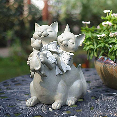 zenggp Résine Félidés Figurine Décoration Cadeau Résine Chaton Statue Ornement Vintage Handcast Designs