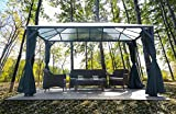 Hanover HANGAZCN13X10-GRY Polycarbonate Roof...