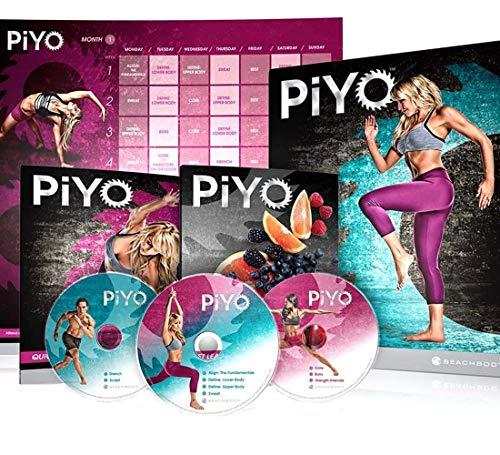 PiYo Base Kit, Chalene Johnson's 5 DVDs Yoga Workouts Fitness Program & Nutrition Guide