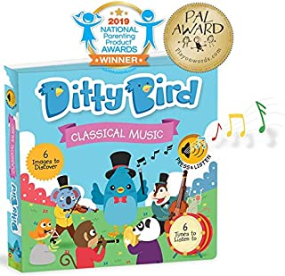 OUR BEST INTERACTIVE CLASSICAL MUSIC BOOK for BABIES. Board Book Music Player with Melodies Mozart. Educational Musical Toys for Baby, 1 Year Old, Toddler with Electronic Button. Baby Shower Gift Boy Girl