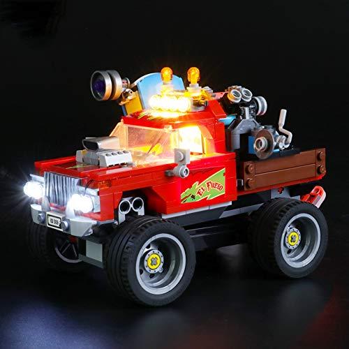 Kit De Iluminación Led para Lego Hidden Side Camión Acrobático De El Fuego, Compatible con Ladrillos De Construcción Lego Modelo 70421 (NO Incluido En El Modelo)