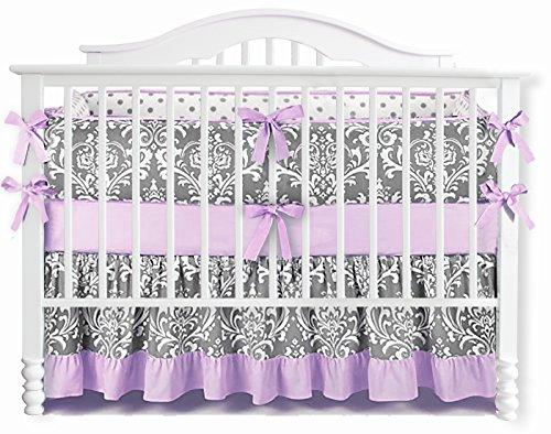 Sahaler Baby Crib Bedding Set for Girls Boys | 7 Pieces Set of Floral Nursery Bedding | Baby Blanket...