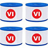 KGC 4 Packs Type VI Spa Filters Cartridge Compatible with Coleman Saluspa 90352E,Replacement for Bestway Saluspa Lay-Z-Spa Inflatable Swimming Pool Pump Hot Tub Spa Type VI Filters