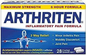 Arthriten Inflammatory Pain Formula Caplets 28 Count, with 3 Active Ingredients for Maximum Pain Relief: Aspirin, Acetaminophen & Caffeine