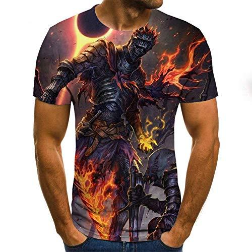 T Shirt Men Clothes Mens Summer Skull Print Men Short Sleeve T-Shirt 3D Print T Shirt Casual Breathable Funny T Shirts 6XL Txu-995